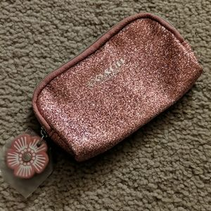Coach Pink Sparkle Change Purse - Never Used